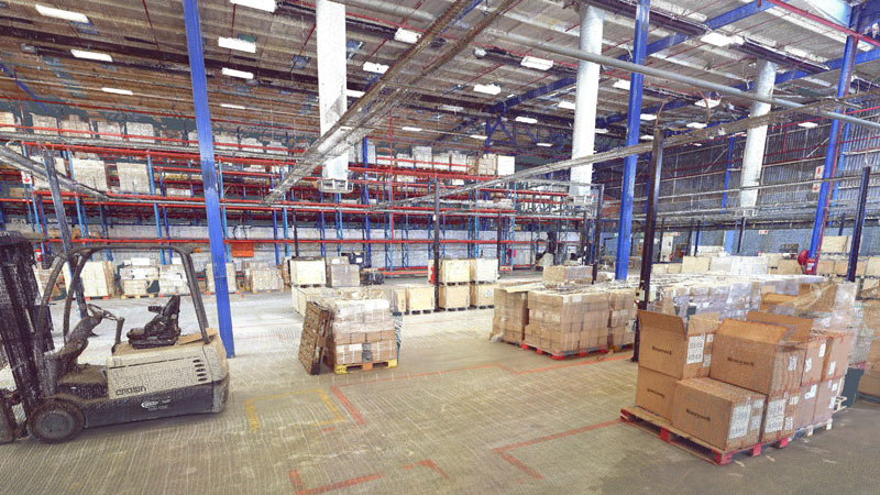 INDUSTRIAL PROPERTY JHB: a warehouse interior is scanned to review new logistics plan